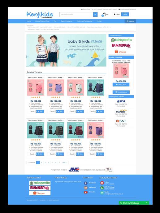 Theme toko online kenjikids