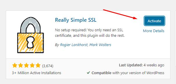 aktivasi plugin really simple ssl