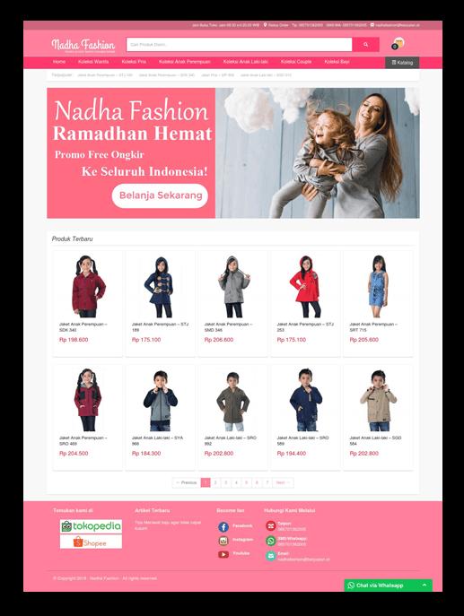 Theme toko online Nadha Fashion