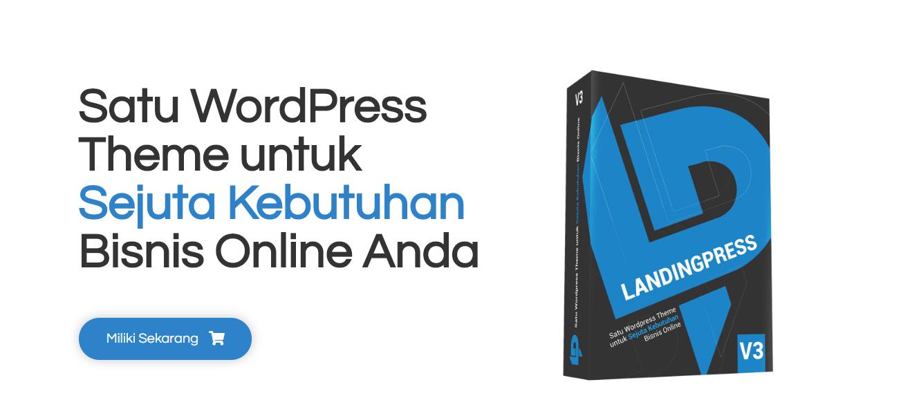 tampilan website landingpress