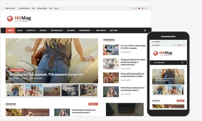 Tampilan Website Hitmag