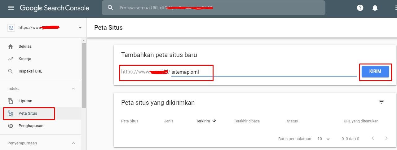 Cara menambahkan sitemap pada google search console