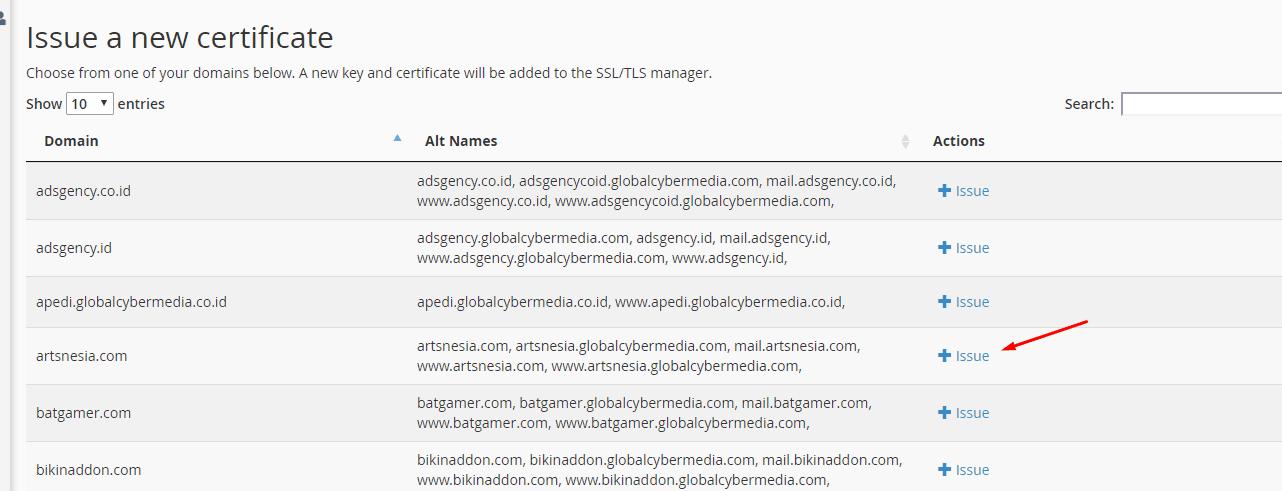 Cara issue SSL di cpanel