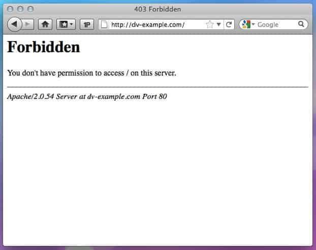 Arti pesan 403 Error Forbidden